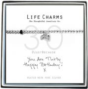 Life Charms You Are 30 Silver Plated Bracelet